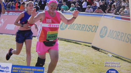 Steve, 63, is running in aid of Breast Cancer Care. Image supplied by Steve Grimsley