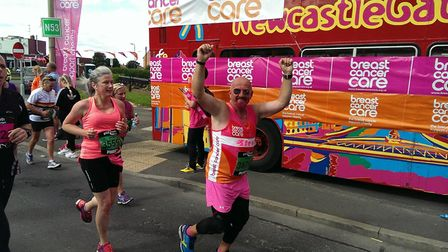 Steve Grimsley is running the Great North Run for the 20th time in aid of Breast Cancer Care. Image