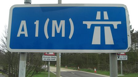 The A1(M) is closed northbound after a multi-vehicle crash.