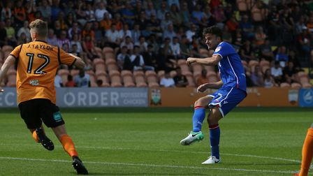 Jonathan Smith shoots over the bar from the edge of the area. Picture: Danny Loo