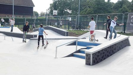 Enjoying the new skate park at Norton Common in Letchworth. Picture: NHDC