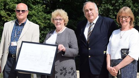Councillors Mike Rice, Lynda Needham, Alan Millard and Jane Gray at the opening of the new Letchwort
