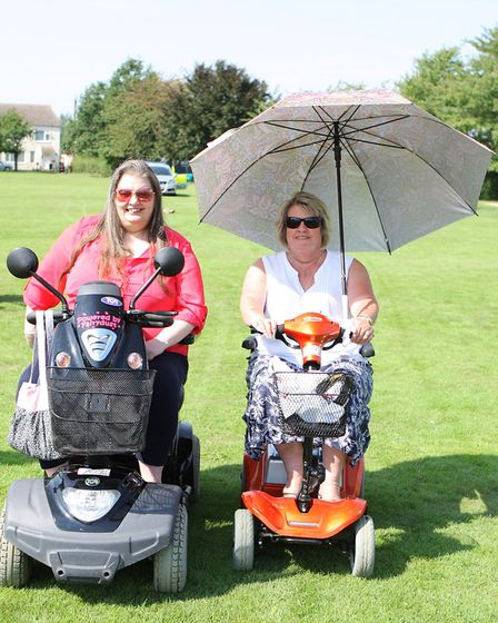 Rachel Dickens and Geraldine Buckley enjoy the day out. Picture: Karyn Haddon
