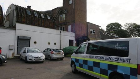 Immigration enforcement visited a business address on the Baldock industrial estate off London Road.