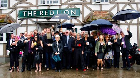 Willy's family and friends gathered at The Red Lion pub for his wake. Picture: Sally Newhouse