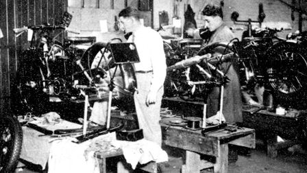 The Vincent factory in Stevenage Old Town