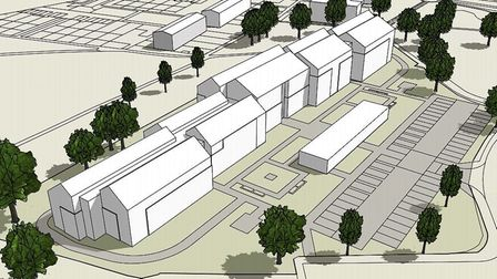 A 3D schematic showing how the Howard Cottage sheltered housing redevelopment at Hamonte will be lai
