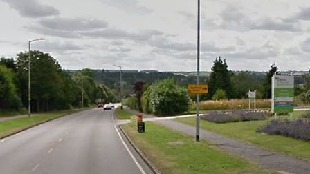 The victim was walking towards Letchworth from Hitchin, past Wyvale Garden Centre. Picture: Google S