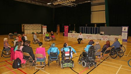 Contestants in the British Inclusive Dance Festival 2017 at the Steveanage Arts and Leisure Centre.