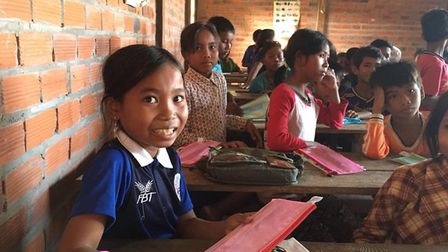 Children in Nepal who have been helped by the charity. Picture: Worldwide Action
