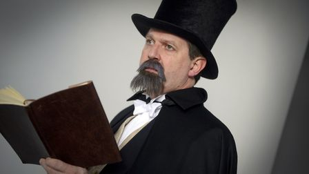 Richard Hodder reads from Charles Dickens at a recent St Albans Museum Dickens event.