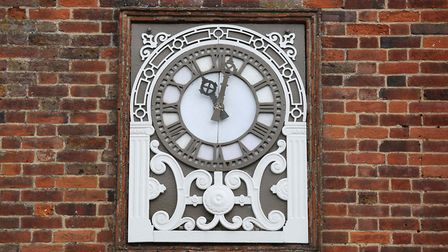 The clock on the Cromwell Hotel which has been fixed after not working for over 15 years. Picture: D
