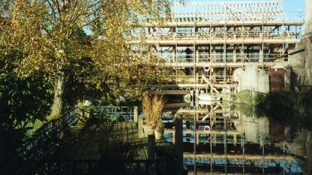 Stotfold Mill being rebuilt. Picture: Stotfold Mill Preservation Trust