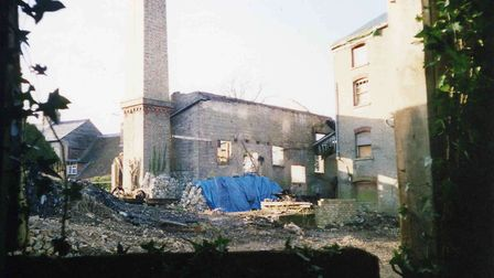 Stotfold Mill after the fire in 1992. Picture: Stotfold Mill Preservation Trust