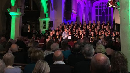 Hitchin Rock Choir's charity concert at St Mary's Church. Picture: Samaritans of North Herts & Steve