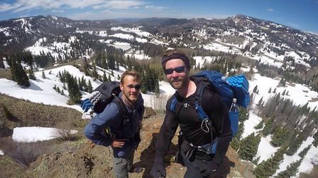 Joel Strickland and Joe Boot at Cumbres Pass, on the border of New Mexico and Colorado, after comple