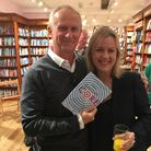 Neil Gaught with fellow author Jojo Moyes, who wrote Me Before You, at Hart's Books. Picture: NEIL G