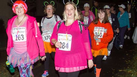 Taking part in last year's Garden House Hospice Care Starlight Walk. Picture: Teresa Whyte @ Studio