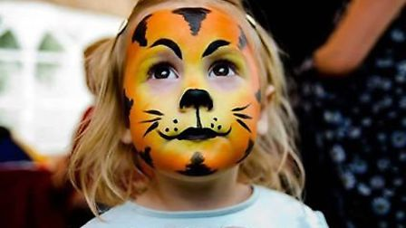 The face painting proved very popular at the memorial event. Picture: Sally Newhouse