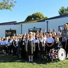 Pupils from Clements Primary School, in Haverhill, are celebrating their new classroom. Picture: GOO