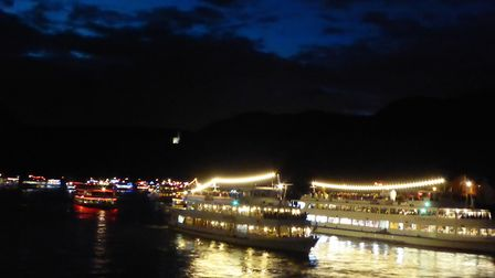 The boats on the Rhine during the Hitchin twinning visit to Bingen in Germany. Picture: Hitchin Twin
