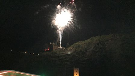 Fireworks in Bingen during the Hitchin twinners' trip. Picture: Hitchin Twinning Association