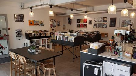 Inside the Gatefold Record Lounge in Hitchin's Hermitage Road. Picture: Nicola Utley