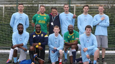 The Haven shelter football team which is joining up with Hitchin Town FC to help the homeless throug