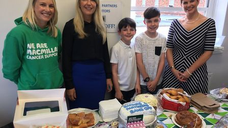 Karen Newman (far right) organised a coffee morning after her cancer ordeal last year. Picture: Nick