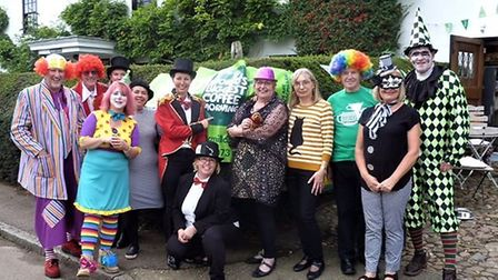 Brewery Tearooms team all dressed up for circus themed tea party. Picture: Brewery Tearooms