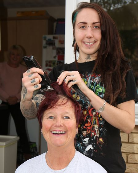 Josephine Wiles before her Brave the Shave for Macmillan. Picture: Danny Loo