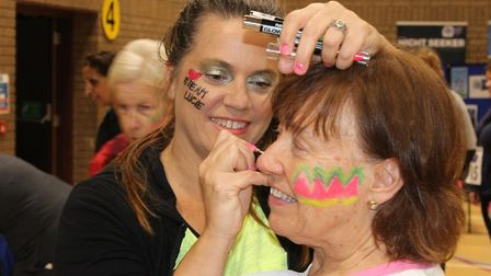 Participants went all out with glitter and glow-in-the-dark paint for the Starlight Walk. Picture: G