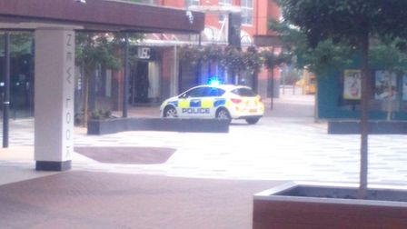 The police cordon in place at the Forum. Picture: Martin Elvery
