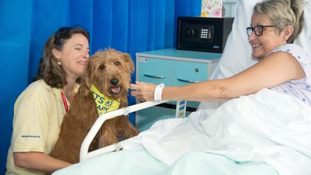 Clare Boscawen with Mabel and Jayne Abrahams. Picture: East and North Herts NHS Trust