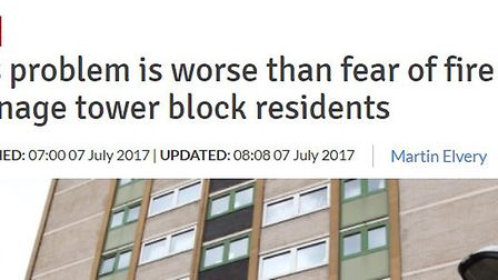 The Comet article from July when we spoke to residents at Brent Court in the aftermath of the Grenfe