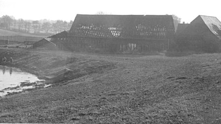 The farm barns and farmhouse in 1972. Picture: Stevenage Museum.