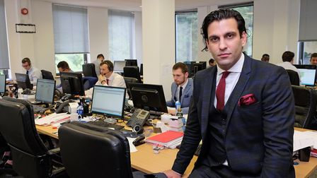 Primary Care People chief executive officer Tawhid Juneja in his call centre. Picture: Danny Loo