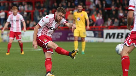 Ben Kennedy had the best chance of the first half for Stevenage. Picture: Danny Loo