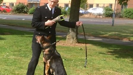 PC Dave Wardell and Finn in Stevenage. Picture: Archant