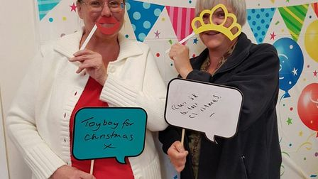 Vikki at the Slimming World Christmas Party in 2016. Picture: Stuart Goodwin