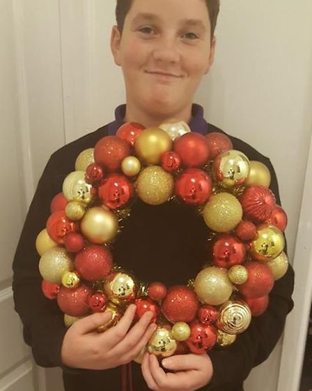Dominic Dance's wreaths have proved popular with people. Picture: Sarah Dance.