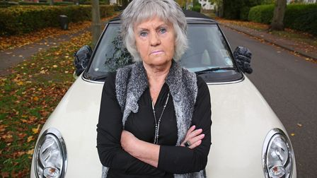 Jean Dickson has gone to extreme measures in locking up her Mini's wing mirrors after having them st