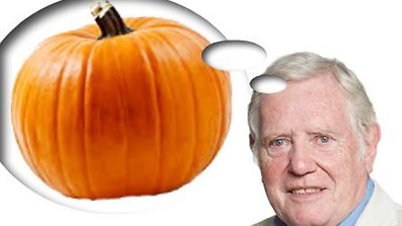 Councillor Budge Wells is encouraging people to recycle their pumpkins...