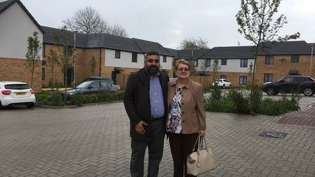 Ash Ahmed and Jeanette Baker at the Archer Road site.