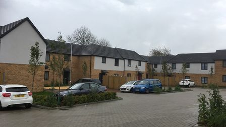 The impressive new homes surrounding the square at Archer Road.