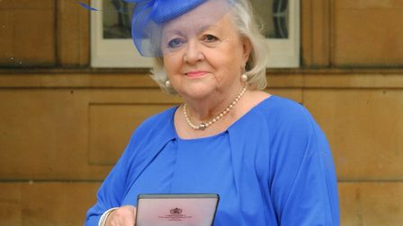 Long-serving NSPCC volunteer Norma Alcock, from Great Wymondley, with her MBE. Picture: NSPCC