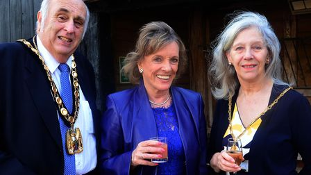 Esther Rantzen with North Herts District Council chairman Councillor Alan Millard and his wife Maure