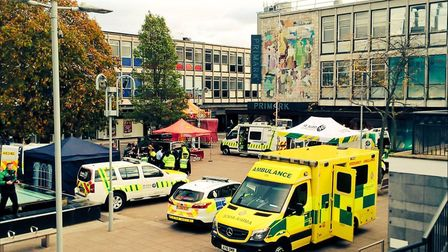 The emergency services awareness day in Stevenage taught people life-saving skills such as CPR. Pict