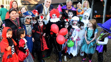 Children wearing fancy dress for the Halloween competition at Knebworth House. Picture: Courtesy of