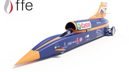The Bloodhound rocket car. Picture: Emma Knowles/FFE